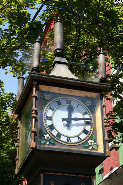 Gastown Steam Clock face. Vancouver, BC.
