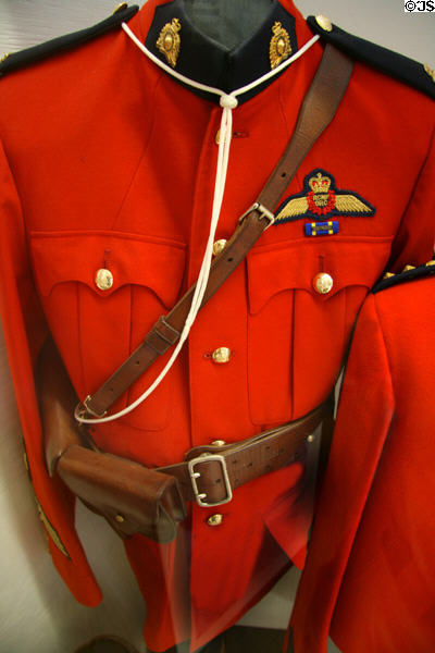 RCMP Air Division uniform at Canadian Museum of Flight. Langley, BC.