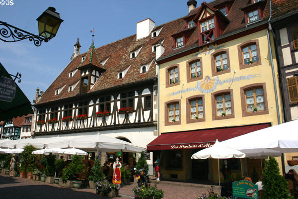 Restaurants along main street. Obernai, France.