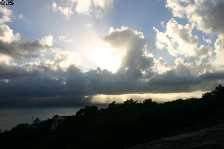 Evening sky from Fort Fleur d'Epé. Gosier, Guadeloupe.