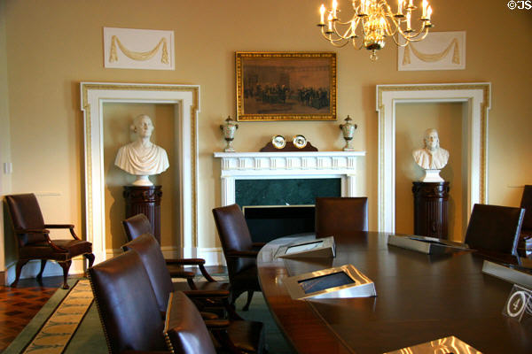 Replica of Cabinet meeting room at Clinton Presidential Library. Little Rock, AR.