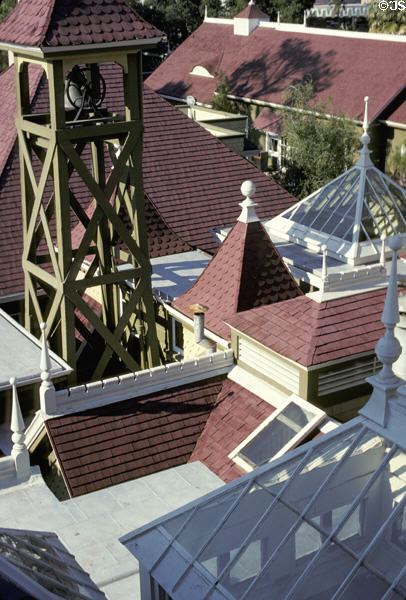 Winchester house turrets & towers. San Jose, CA.