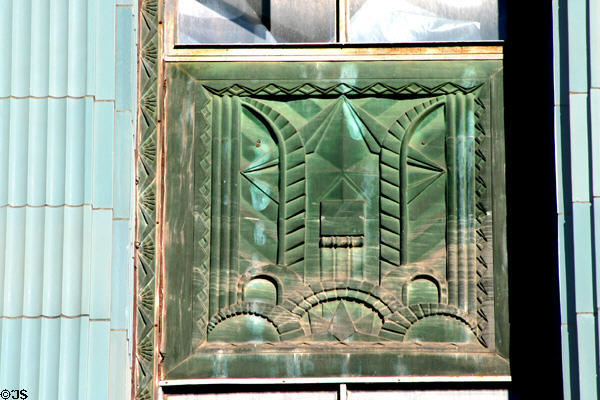 Art Deco panel detail of Eastern Columbia Building. Los Angeles, CA.