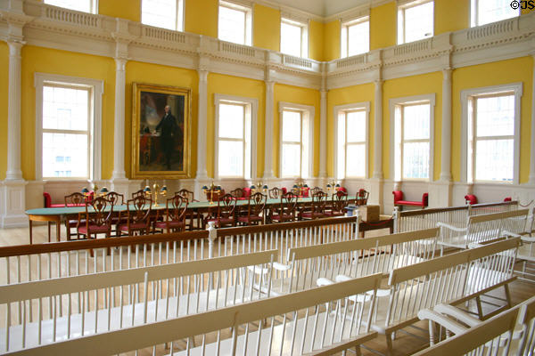 Connecticut State Senate Chamber (1814-90) in Old State House. Hartford, CT.