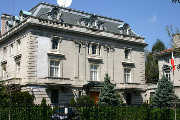 Polish Embassy building (2640 16th St. NW). Washington, DC. Style: Second Empire.