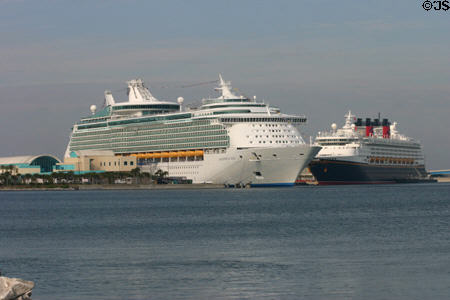 Cruise ships at Port Canaveral. FL.