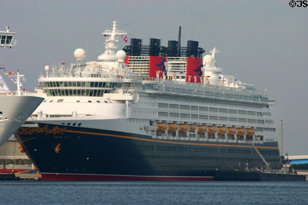 Disney Wonder cruise ship. FL.