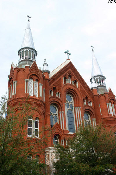 Sacred Heart Cultural Center (former Church) (1901) (1301 Greene St.). Augusta, GA. Style: Romanesque. Architect: Brother Cornelius Otten. On National Register.