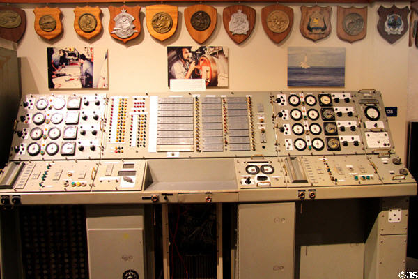 Mark 80 fire control system from Polaris missile sub at USS Bowfin Submarine Museum. Honolulu, HI.