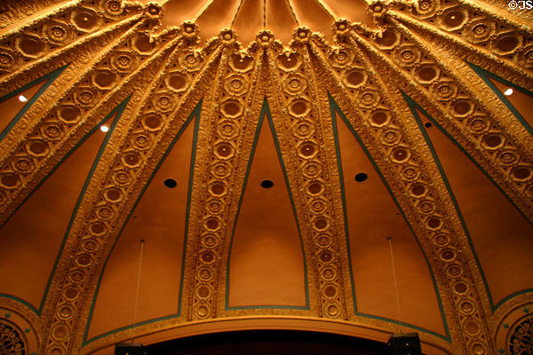 Ceiling of Hoyt Sherman Place Theater. Des Moines, IA.
