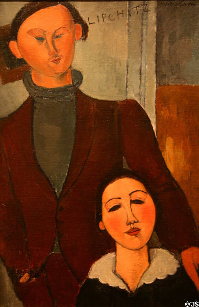 Jacques & Berthe Lipchitz portrait (1916) by Amedeo Modigliani at Art Institute of Chicago. Chicago, IL.