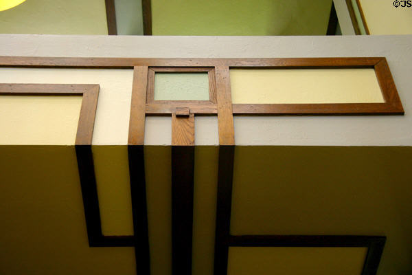 Wright's geometry in Unity Temple. Oak Park, IL.