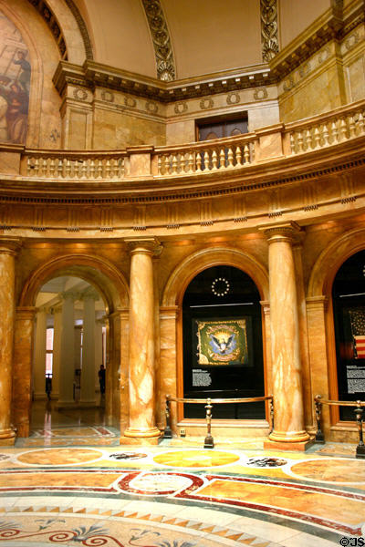 Rotunda of Massachusetts State House. Boston, MA.