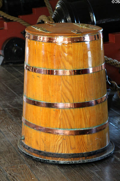 Water barrel of USS Constitution. Boston, MA.