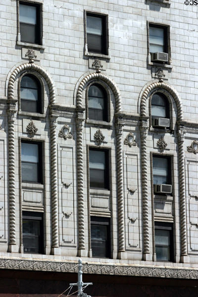 Filigree details of Cadillac Square Apartments. Detroit, MI.