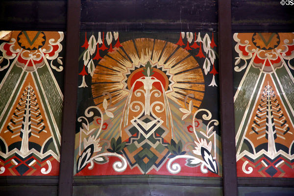 Art Deco paintings of Omaha Union Station. Omaha, NE.