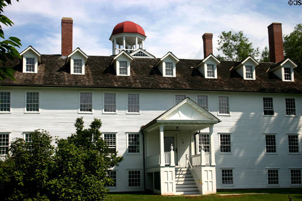 Dwelling house (1793/1814/1837) of Canterbury Shaker Village. NH.