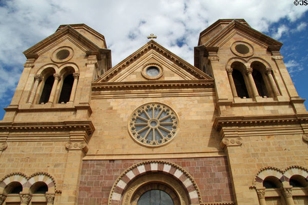 Never completed towers of St. Francis Cathedral. Santa Fe, NM.