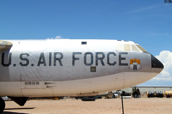 Nose of Boeing RB-52B Stratofortress at National Museum of Nuclear Science & History. Albuquerque, NM.