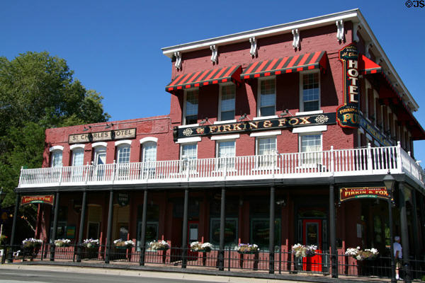 St. Charles-Muller Hotel (1862) (302-4 S. Carson St.). Carson City, NV. On National Register.