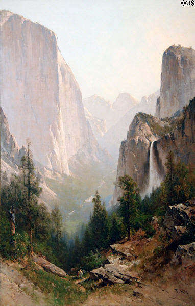 Yosemite painting (c1908) by Thomas Hill at Rockwell Museum of Art. Corning, NY.