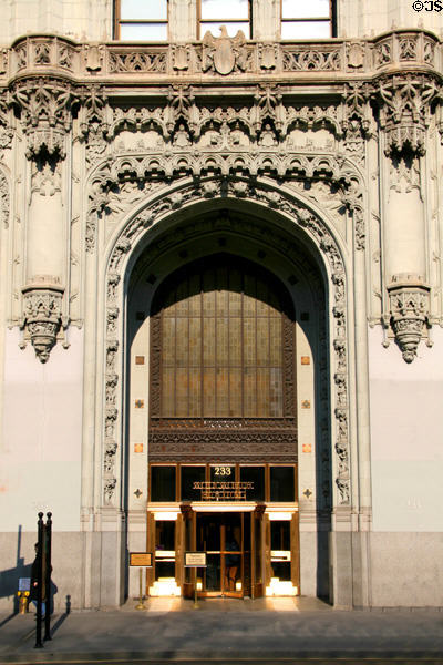 Entrance portal of Woolworth Building. New York, NY.