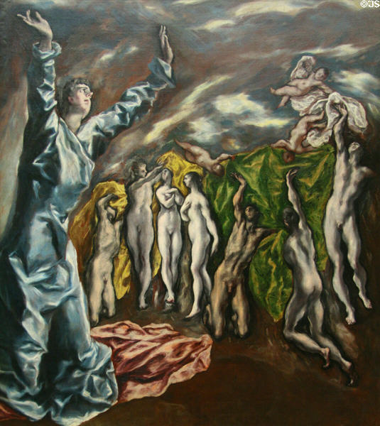 Vision of St. John painting (c1608) by El Greco at Metropolitan Museum of Art. New York, NY.