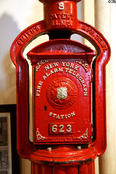 New York Fire Alarm Telegraph Station (c1887) at New York Fire Museum. New York, NY.