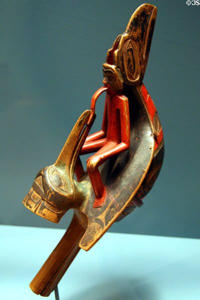 Haida raven rattle (c1875) at National Museum of American Indian. New York, NY.