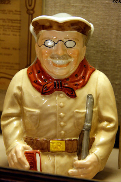 Theodore Roosevelt Toby jug at his Birthplace. New York, NY.