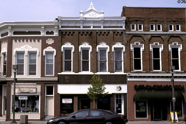 Italianate buildings on Courthouse square. Bryan, OH.