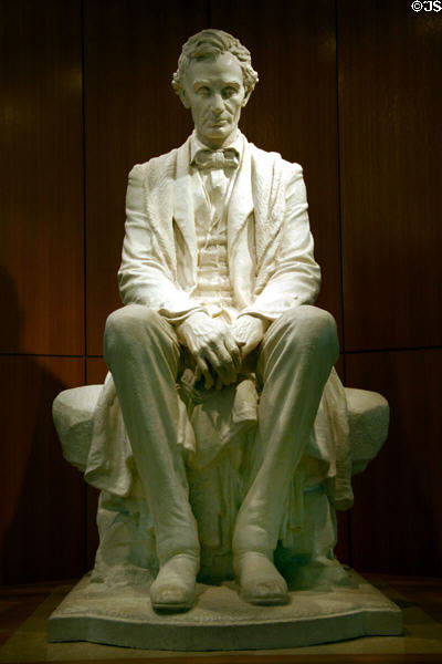 Statue of Abraham Lincoln at National Cowboy Museum. Oklahoma City, OK.