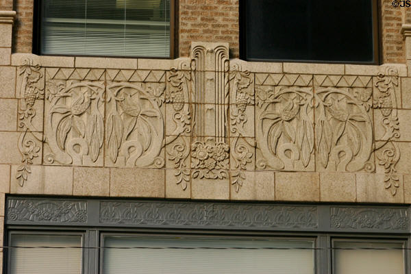 Garden relief pattern of Amoco North Building. Tulsa, OK.