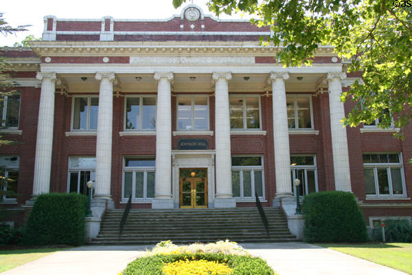 Johnson Hall Administration Building (1915) of University of Oregon. Eugene, OR. Architect: William C. Knighton. On National Register.