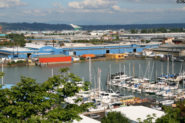 Pleasure craft & shipping facilities of Port of Tacoma. Tacoma, WA.
