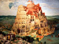 Tower of Babel painting by Pieter Brueghel the Elder at Kunsthistorisches Museum. Vienna, Austria.