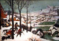Hunters in Snow painting by Pieter Brueghel the Elder at Kunsthistorisches Museum. Vienna, Austria.