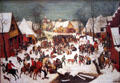 Infanticide at Bethlehem painting by Pieter Bruegel the Younger at Kunsthistorisches Museum. Vienna, Austria.