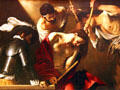 Crowning with Thorns painting by Caravaggio at Kunsthistorisches Museum. Vienna, Austria.