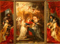 Triptych of St. Ildefonso painting by Peter Paul Rubens at Kunsthistorisches Museum. Vienna, Austria.