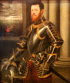 Portrait of Man in Armor Decorated in Gold painting by Jacopo Tintoretto at Kunsthistorisches Museum. Vienna, Austria.