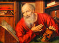 St. Jerome in Cell painting by Quentin Massys at Kunsthistorisches Museum. Vienna, Austria.