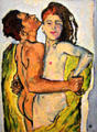 Lovers painting by Koloman Moser at Leopold Museum. Vienna, Austria.