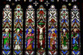 Stained glass window of Christ Church Cathedral. Fredericton, NB.