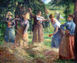 Hay Harvest at Éragny by Camille Pissarro at National Gallery of Canada. Ottawa, ON.