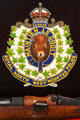 Royal North West Mounted Police emblem at RCMP Heritage Center. Regina, SK.