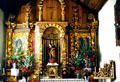 Altar of the church in Orosi. Costa Rica.