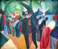 Walk on the Bridge painting by August Macke at Lenbachhaus. Munich, Germany.