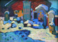 Kochel - Graveyard painting by Wassily Kandinsky at Lenbachhaus. Munich, Germany.