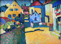 Murnau Grüngasse painting by Wassily Kandinsky at Lenbachhaus. Munich, Germany.